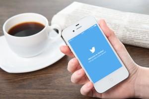 Twitter running on an iPhone