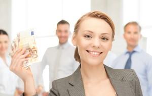 Woman holding euros