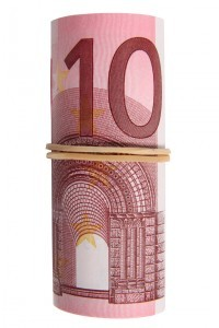 roll of euro notes