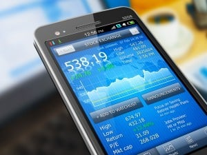 Stock App on Smartphone