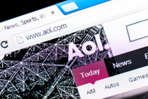 AOL's home page