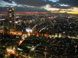 Tokyo in the evening