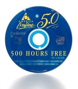 America Online 500 Hours Free Trial Internet Service Compact Dis