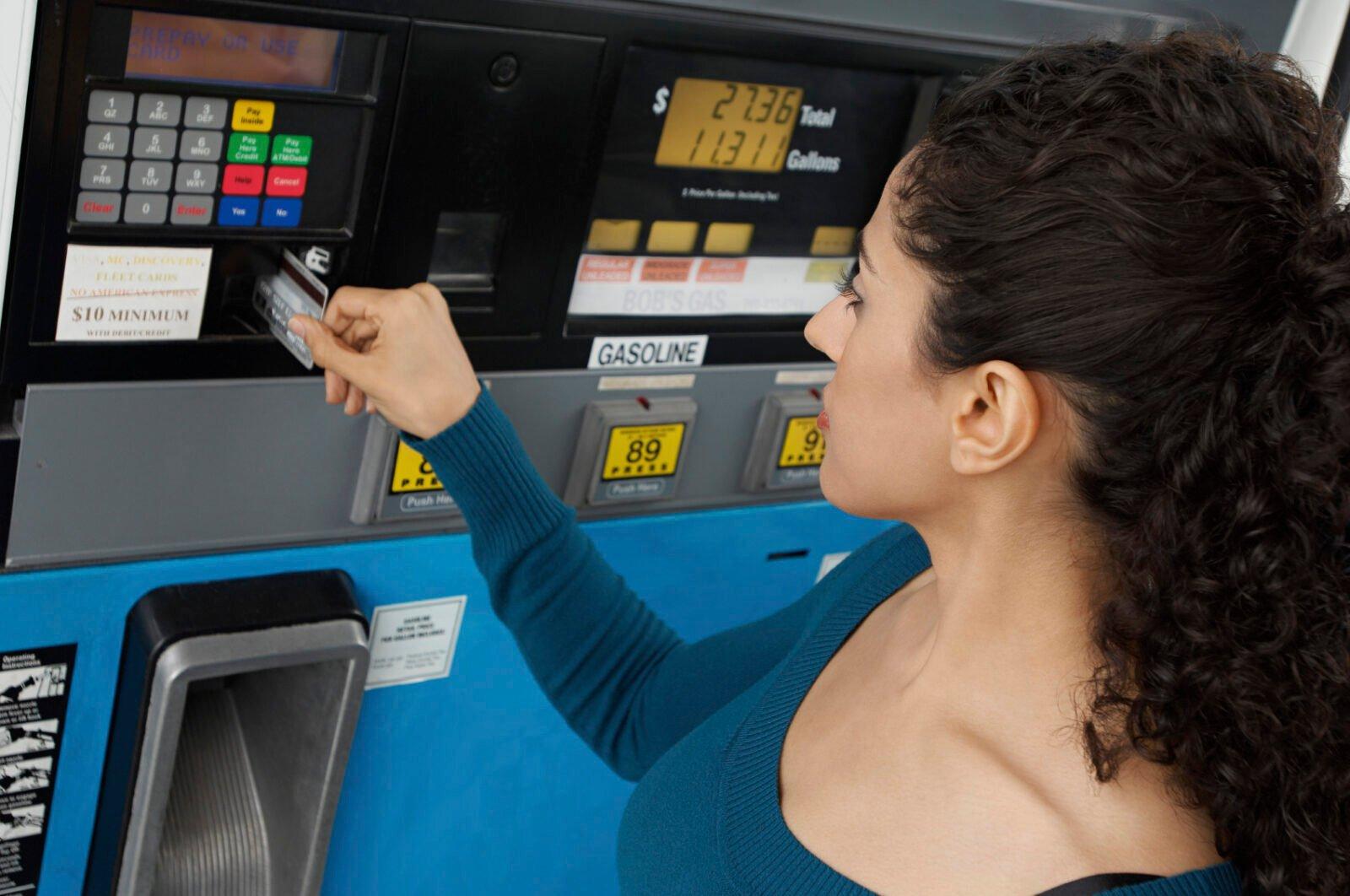 customer at petrol station
