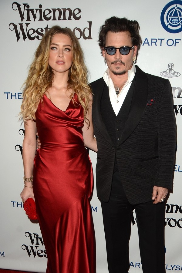 Amber Heard, Johnny Depp at the The Art of Elysium Ninth Annual Heaven Gala at the 3LABS on January 9, 2016 in Culver City, CA